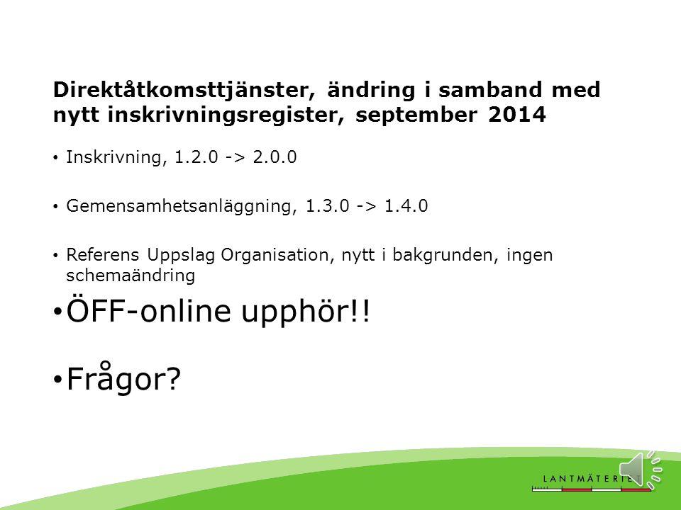 ÖFF-online upphör!! Frågor
