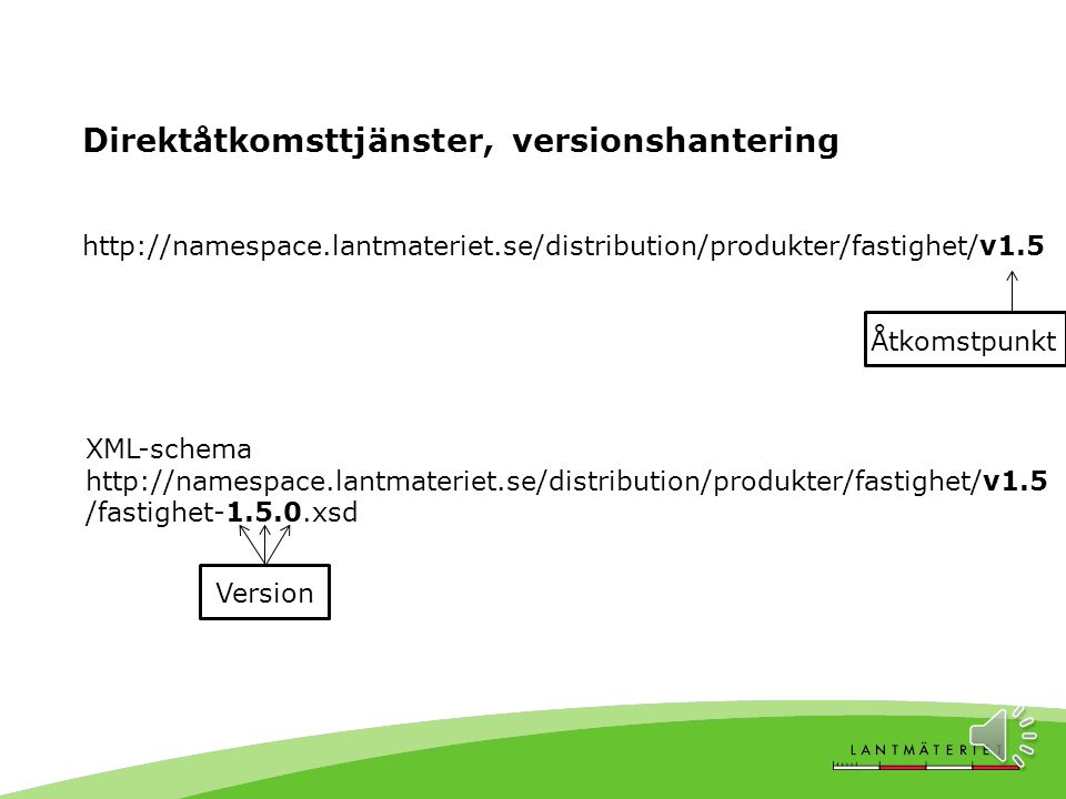 Direktåtkomsttjänster, versionshantering