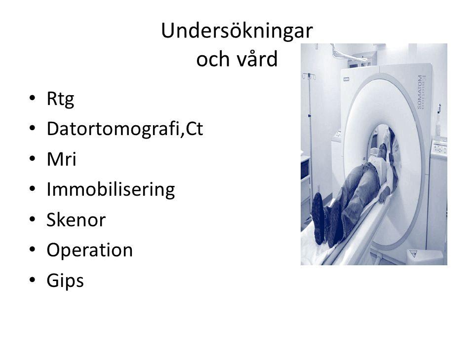 Undersökningar och vård