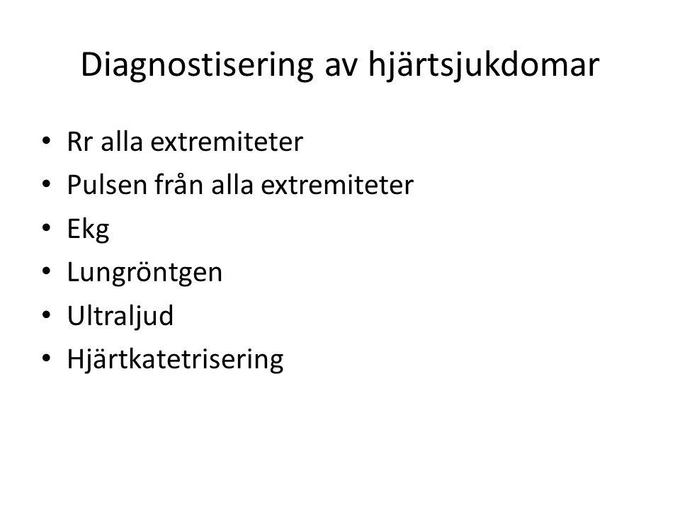 Diagnostisering av hjärtsjukdomar