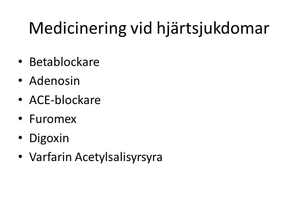 Medicinering vid hjärtsjukdomar