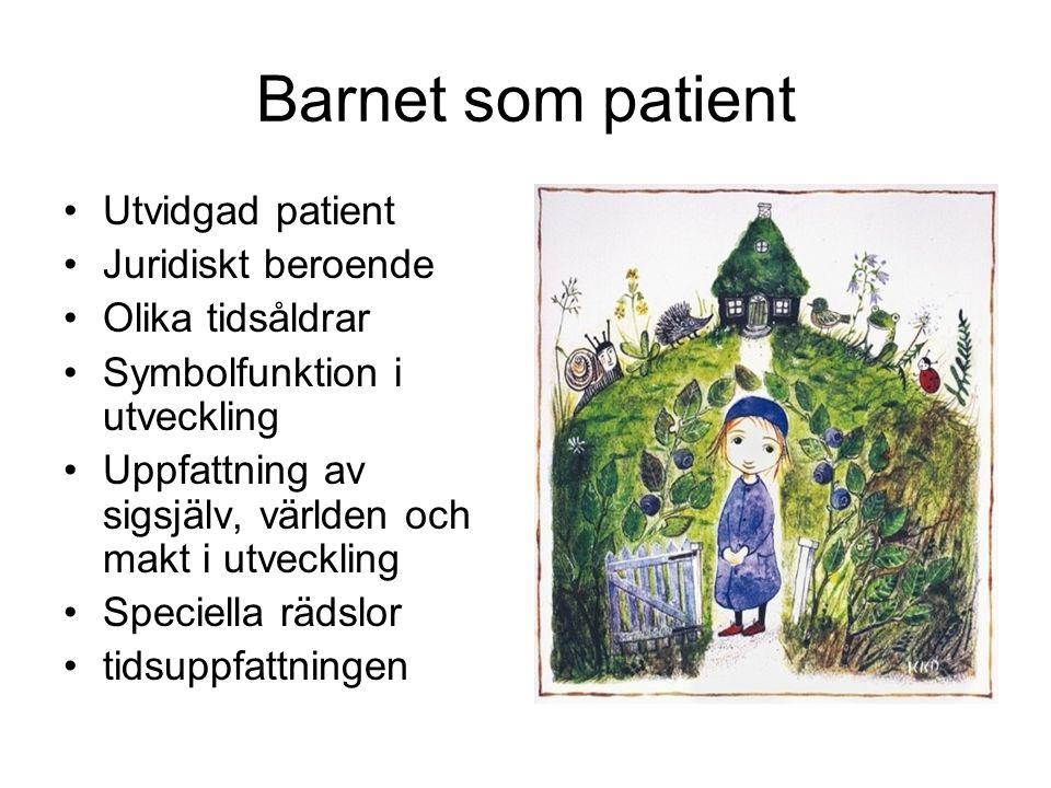 Barnet som patient Utvidgad patient Juridiskt beroende