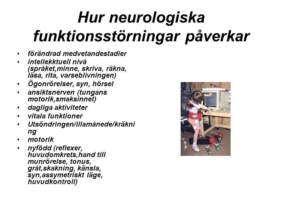 Hur neurologiska funktionsstörningar påverkar