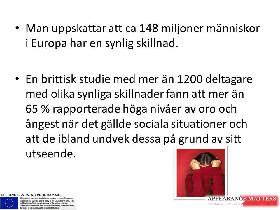 Man uppskattar att ca 148 miljoner människor i Europa har en synlig skillnad.