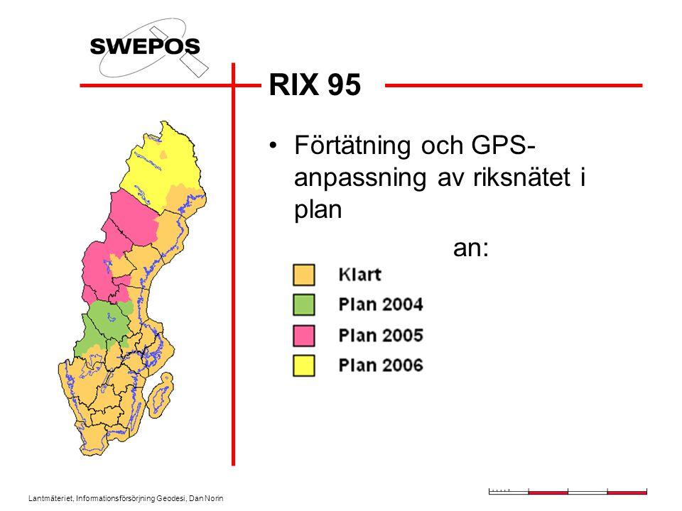 RIX 95 Förtätning och GPS-anpassning av riksnätet i plan