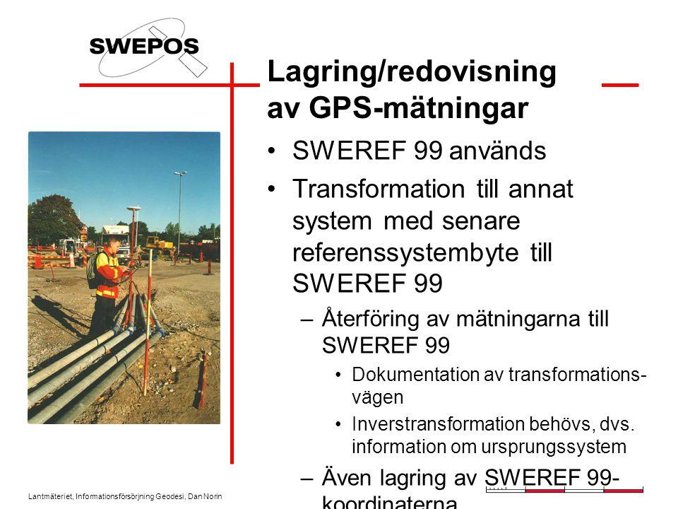 Lagring/redovisning av GPS-mätningar