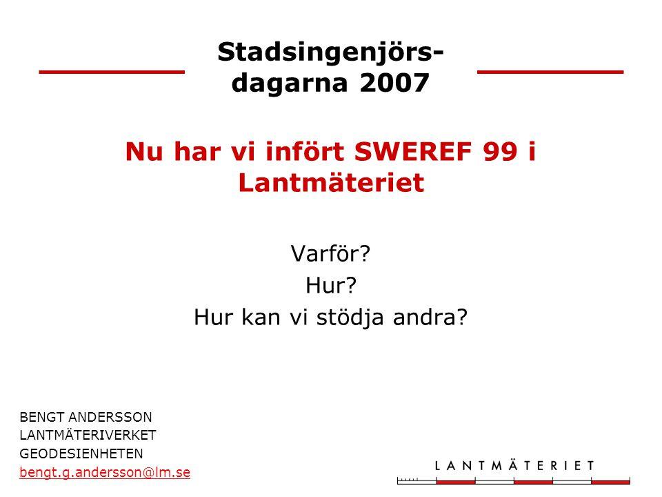 Stadsingenjörs-dagarna 2007