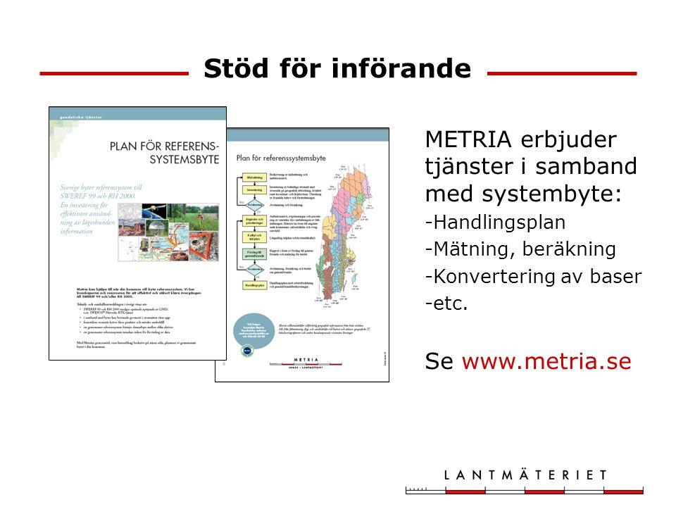 Stöd för införande METRIA erbjuder tjänster i samband med systembyte: