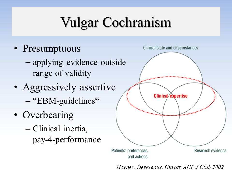 Vulgar Cochranism Presumptuous Aggressively assertive Overbearing