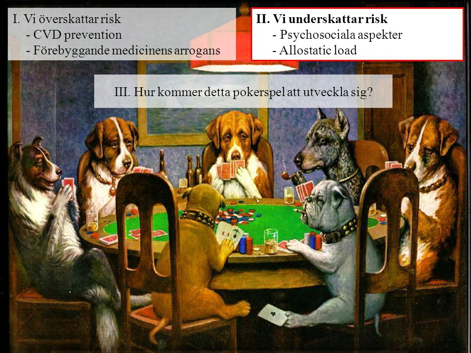 III. Hur kommer detta pokerspel att utveckla sig