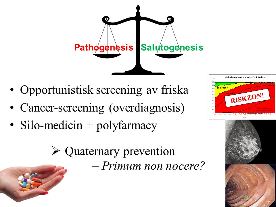 Opportunistisk screening av friska Cancer-screening (overdiagnosis)