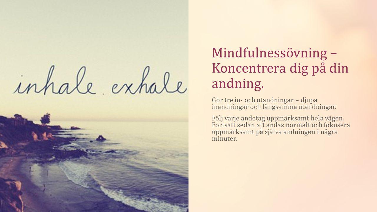 Mindfulnessövning – Koncentrera dig på din andning.