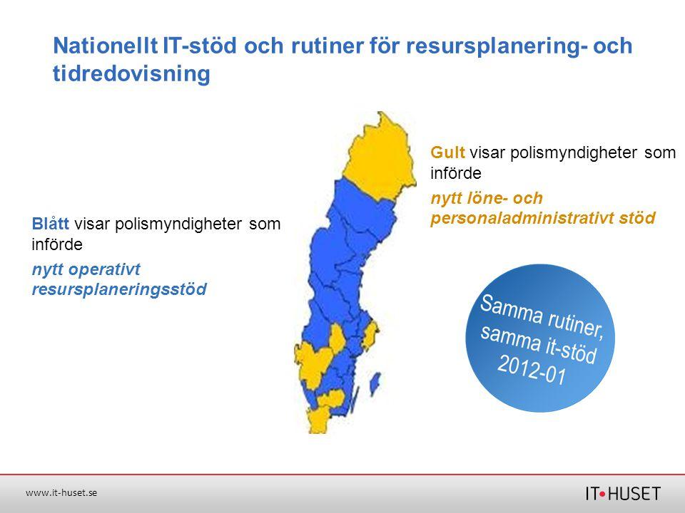 Nationellt IT-stöd och rutiner för resursplanering- och tidredovisning