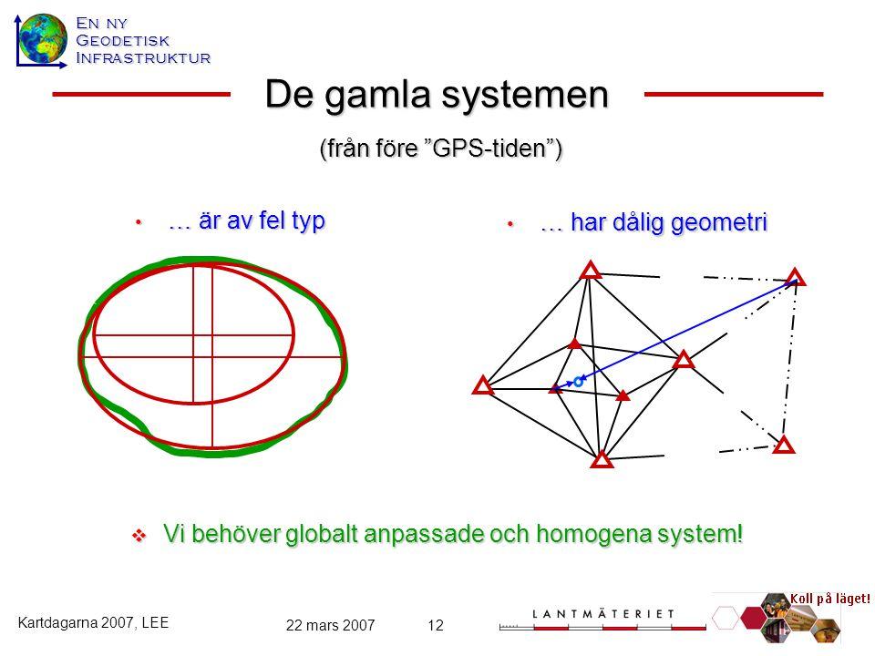 De gamla systemen (från före GPS-tiden ) … är av fel typ