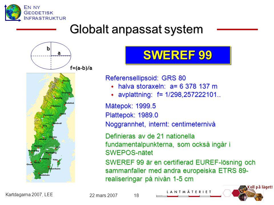 Globalt anpassat system
