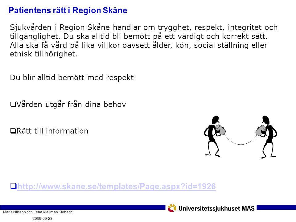Patientens rätt i Region Skåne