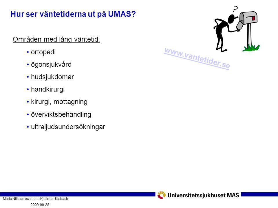 Hur ser väntetiderna ut på UMAS