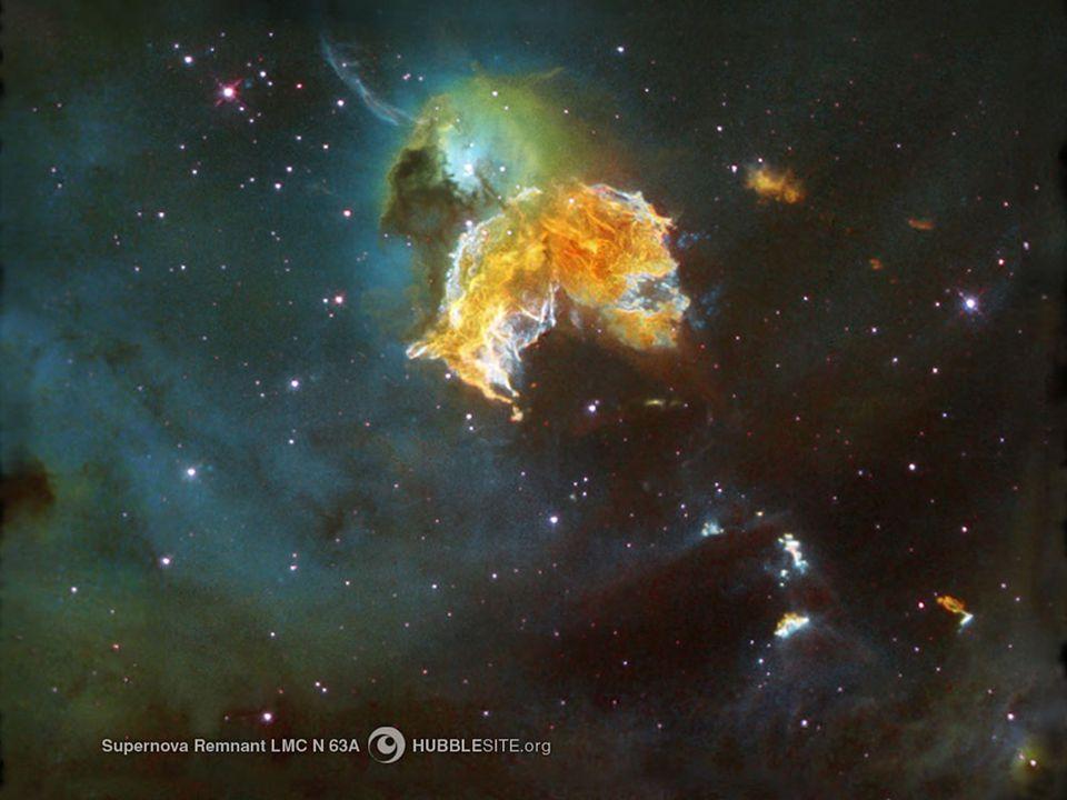 Stjärnor dör olika, några blossar upp i SUPERNOVOR, och slutar sedan svarta dvärgar, vita dvärgar, neutronstjärnor, nebulosor eller svarta hål.