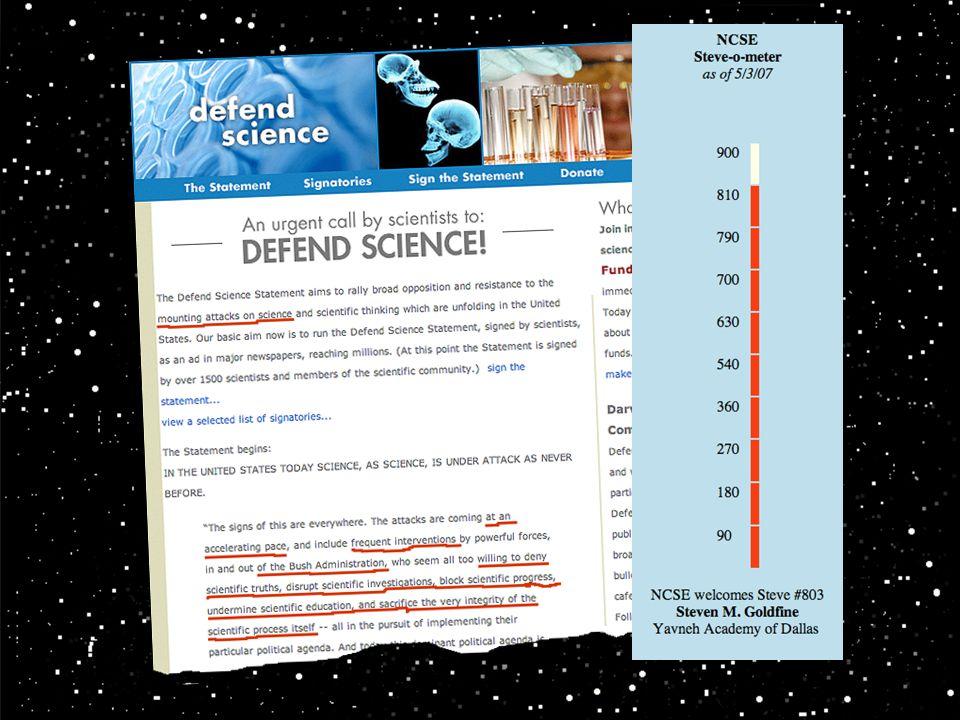 Det finns alltså på nätet ett upprop med namnet DEFEND SCIENCE