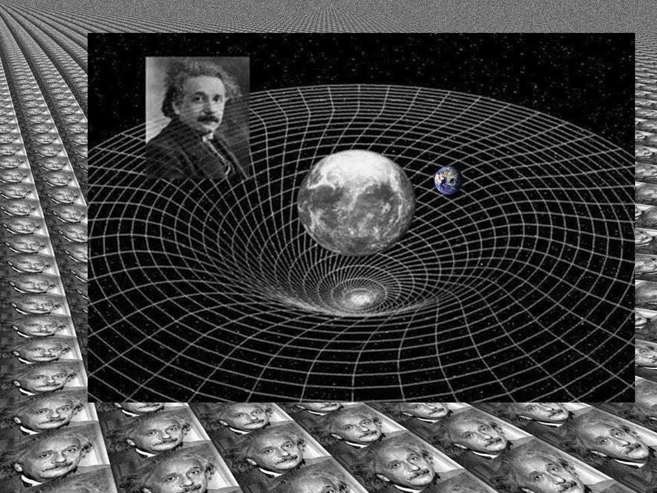 Einstein sa att gravitation inte skall uppfattas som en svag kraft utan som en krökt rum-tid. Gravitation är alltså gropar i rum-tiden.