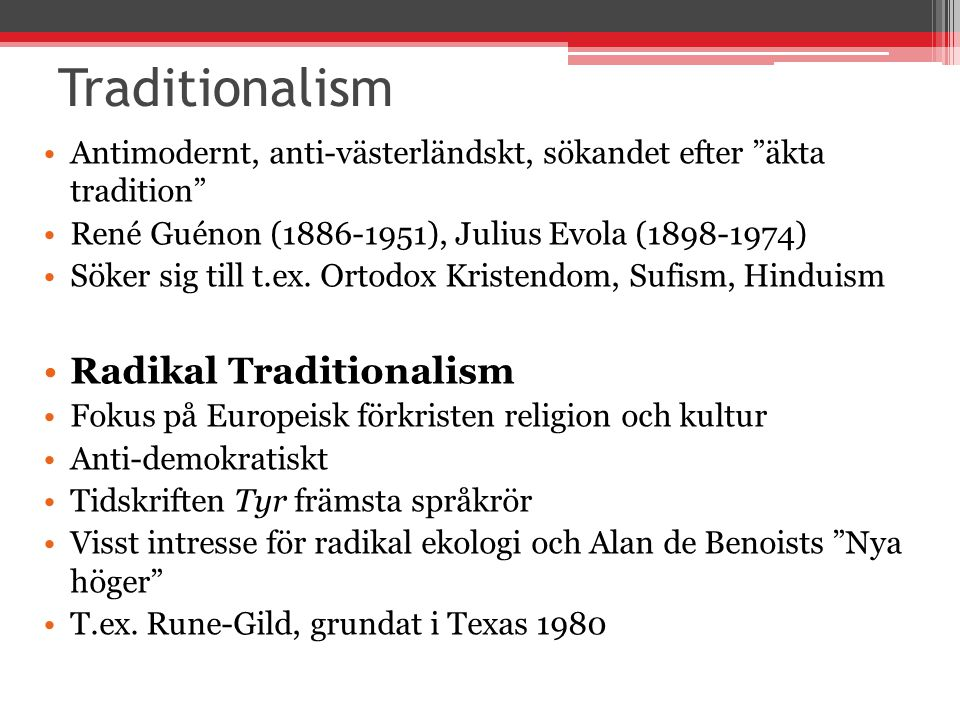 Traditionalism Radikal Traditionalism