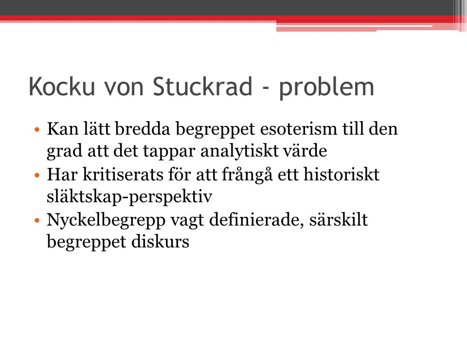 Kocku von Stuckrad - problem