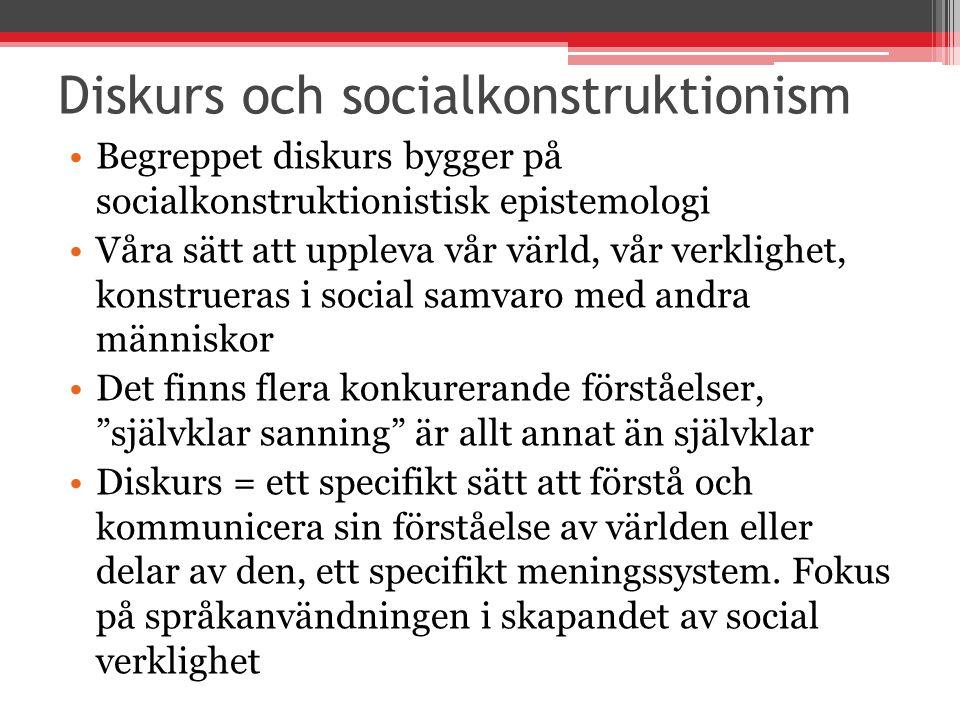 Diskurs och socialkonstruktionism
