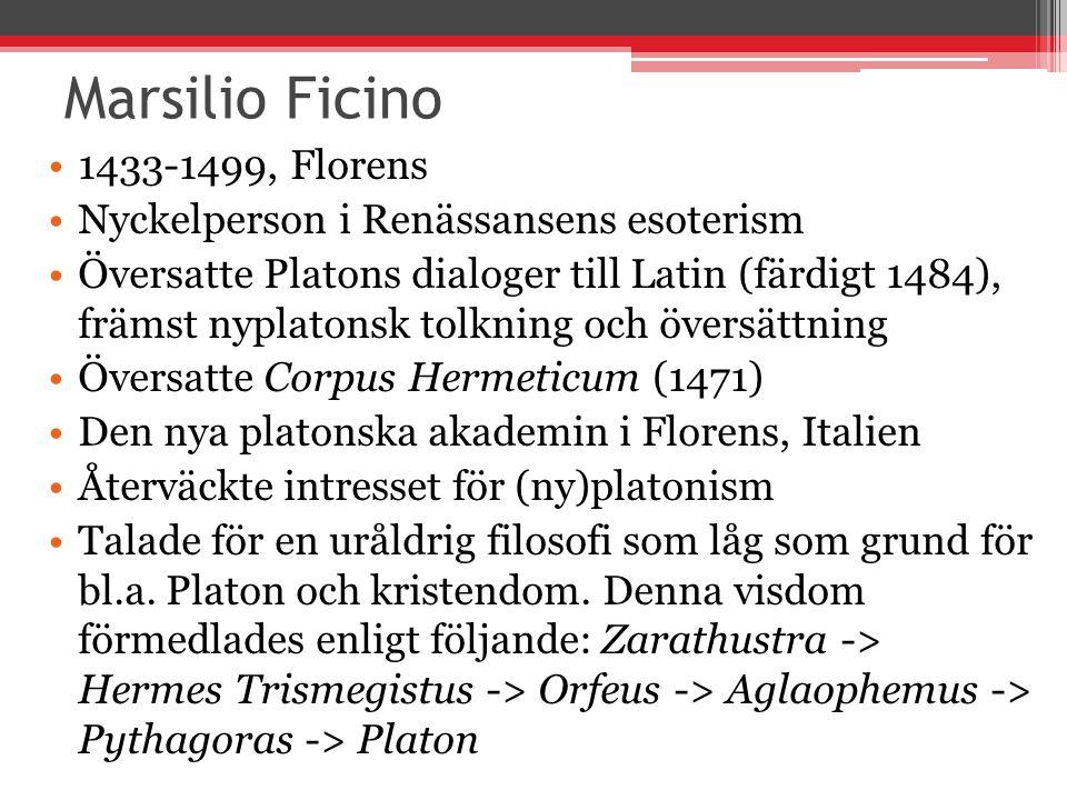 Marsilio Ficino 1433-1499, Florens