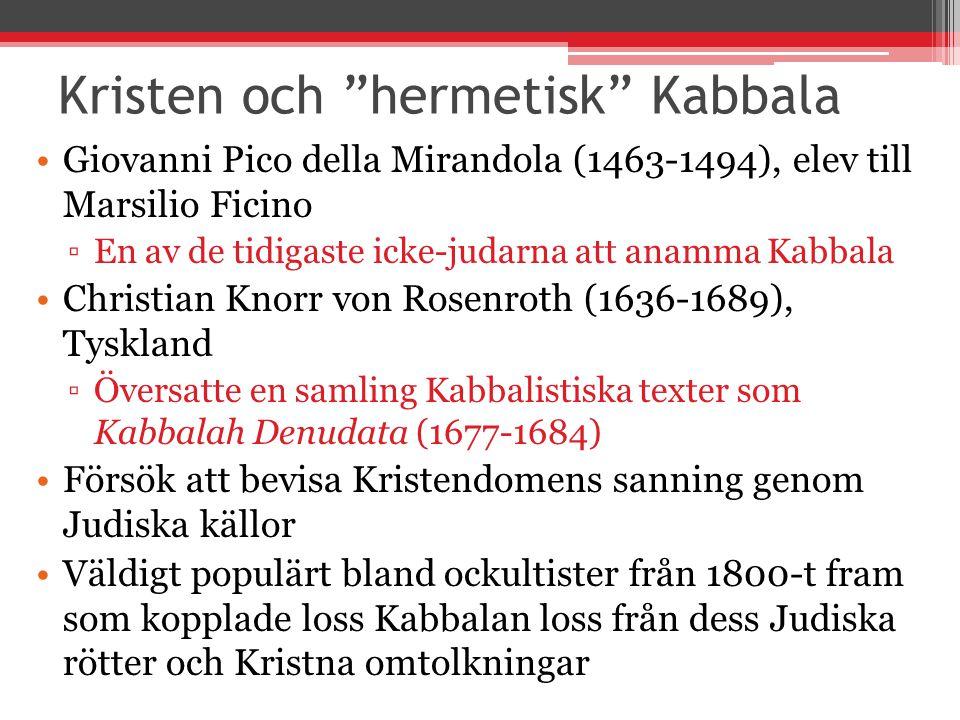 Kristen och hermetisk Kabbala