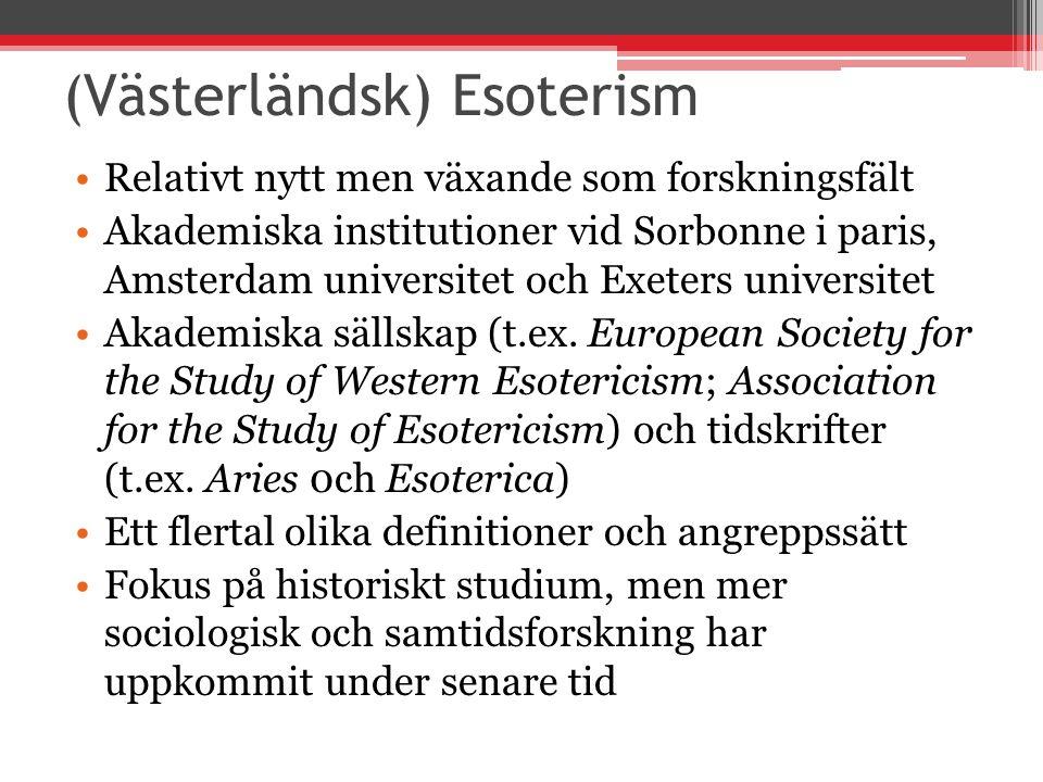 (Västerländsk) Esoterism