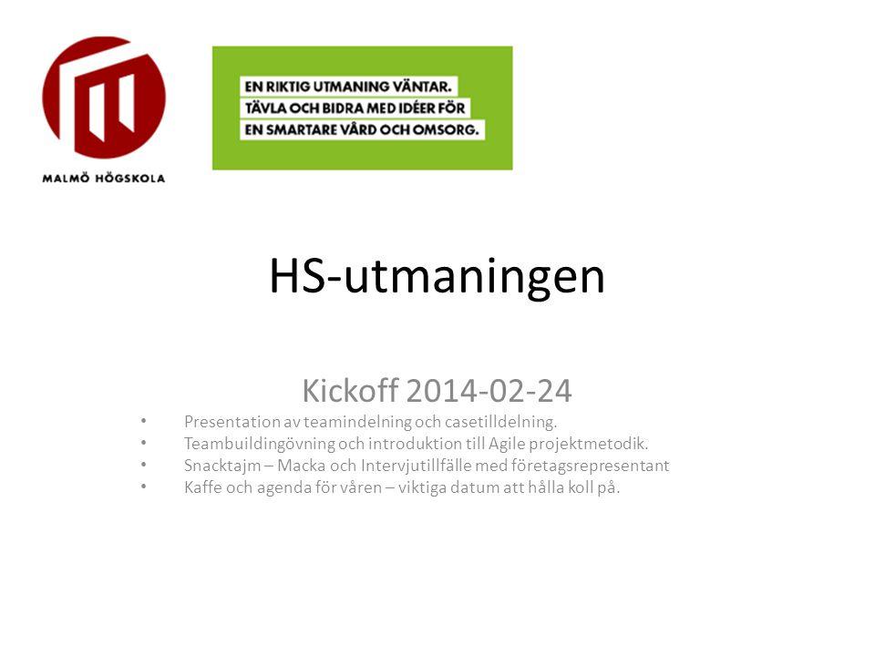 HS-utmaningen Kickoff 2014-02-24
