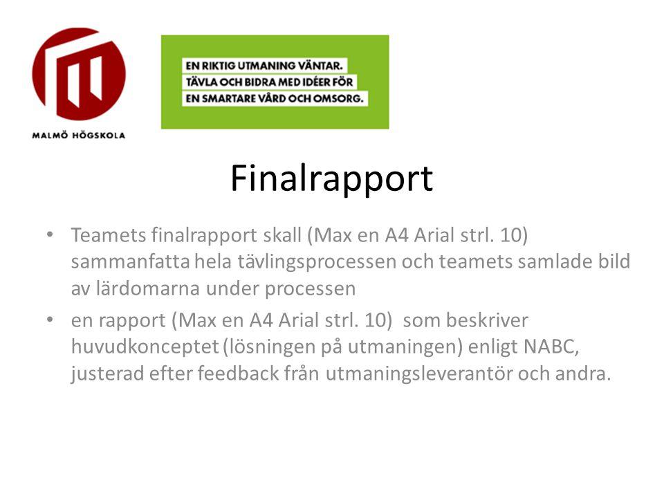 Finalrapport