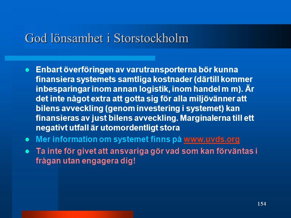 God lönsamhet i Storstockholm