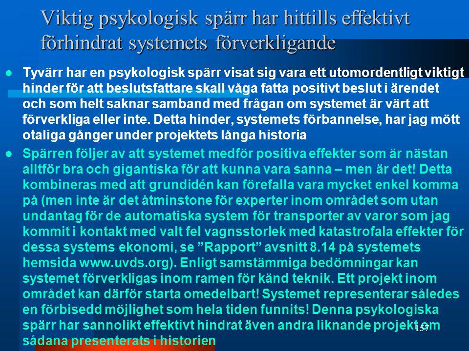 Viktig psykologisk spärr har hittills effektivt förhindrat systemets förverkligande