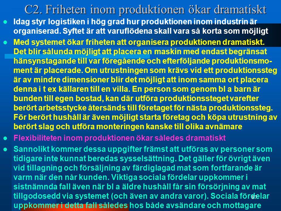 C2. Friheten inom produktionen ökar dramatiskt