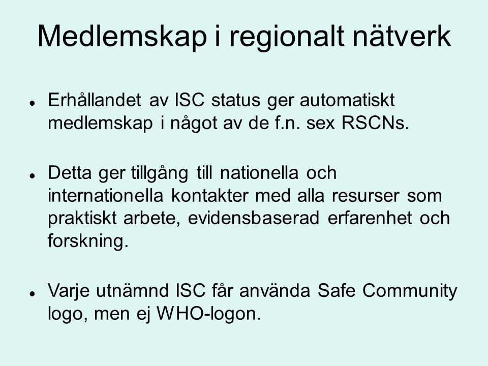 Medlemskap i regionalt nätverk