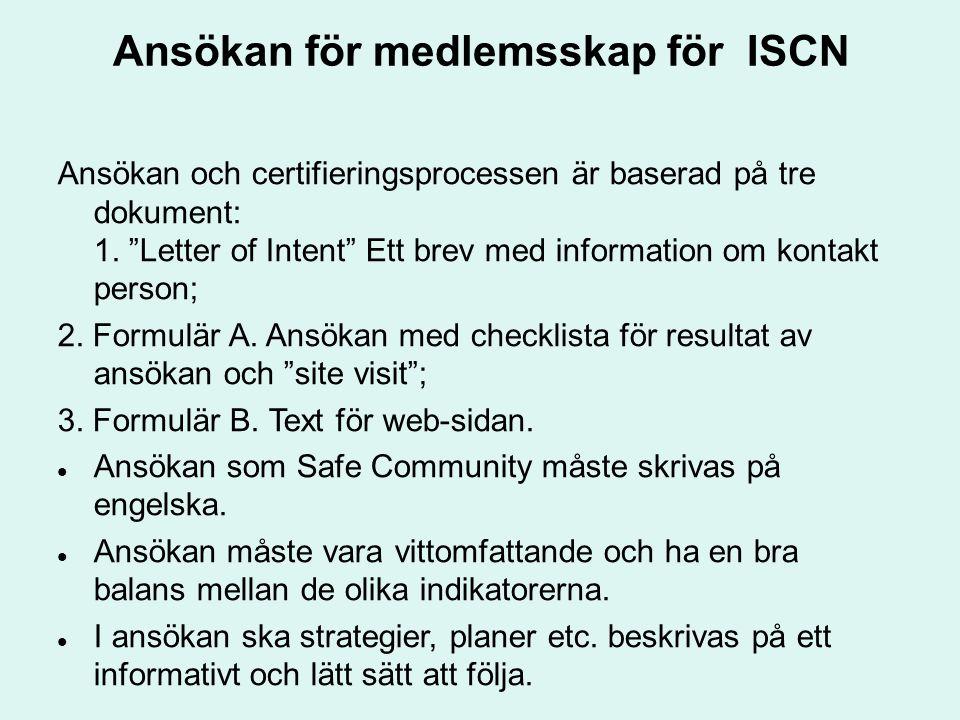 Ansökan för medlemsskap för ISCN