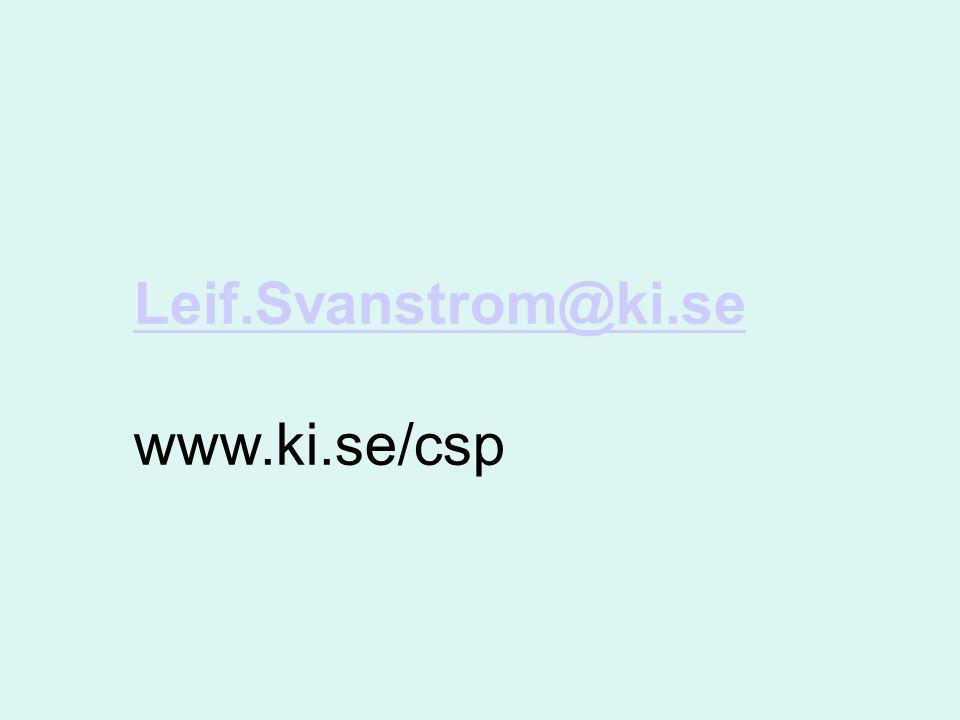 Leif.Svanstrom@ki.se www.ki.se/csp