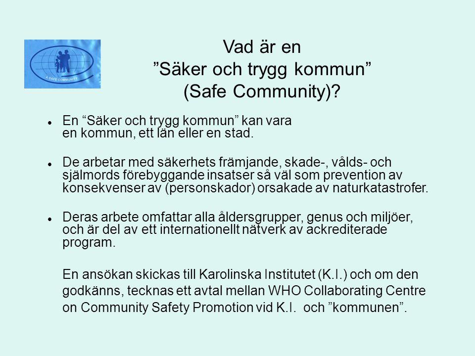 Vad är en Säker och trygg kommun (Safe Community)