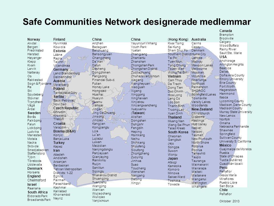 Safe Communities Network designerade medlemmar