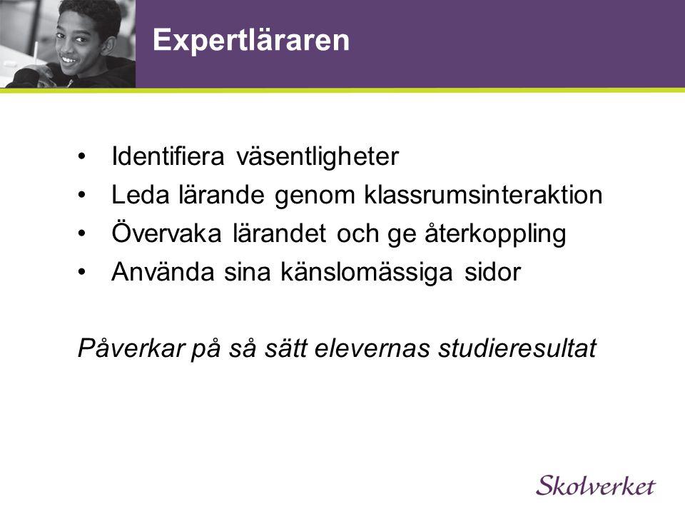 Expertläraren Identifiera väsentligheter