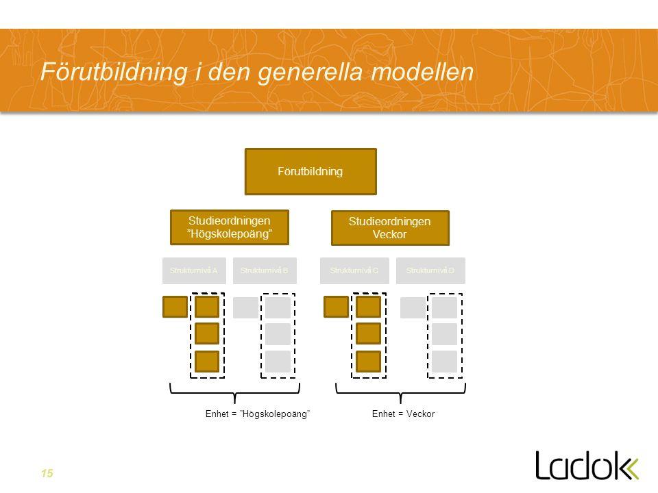 Förutbildning i den generella modellen