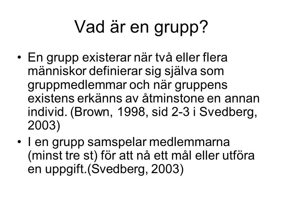 Vad är en grupp