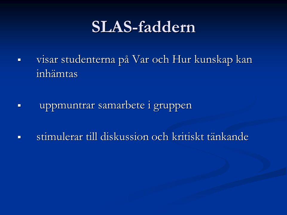 SLAS-faddern visar studenterna på Var och Hur kunskap kan inhämtas
