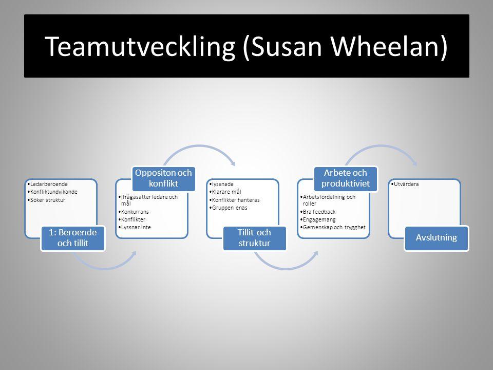 Teamutveckling (Susan Wheelan)