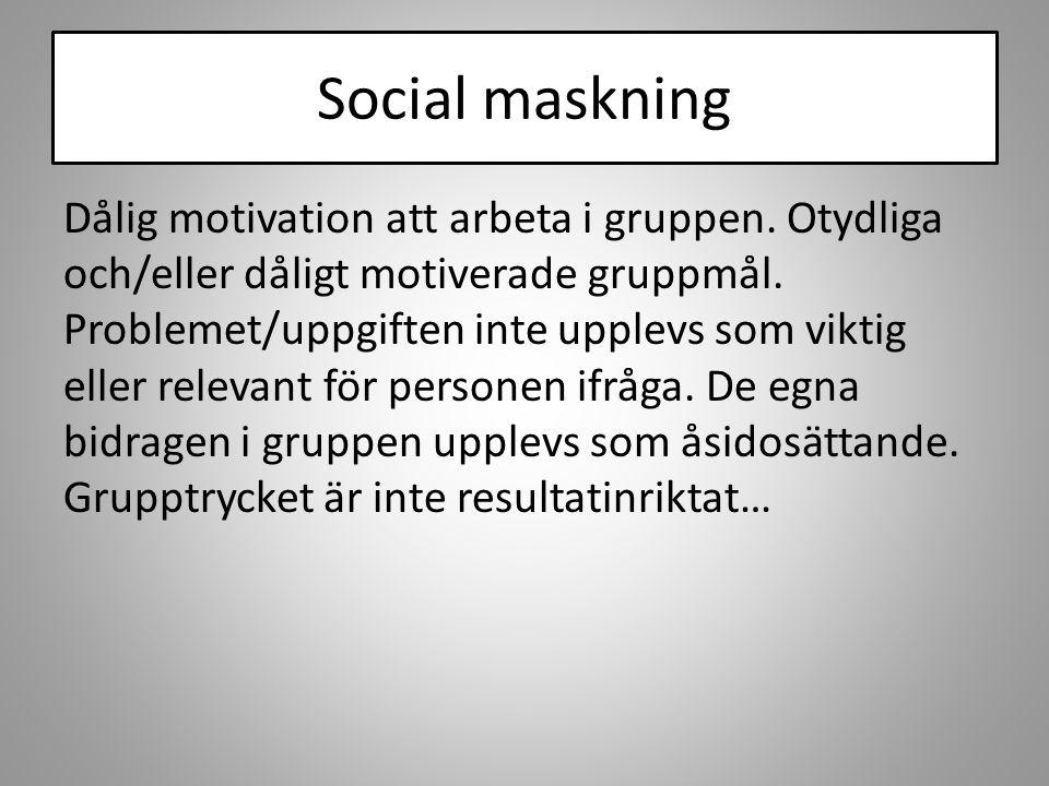 Social maskning