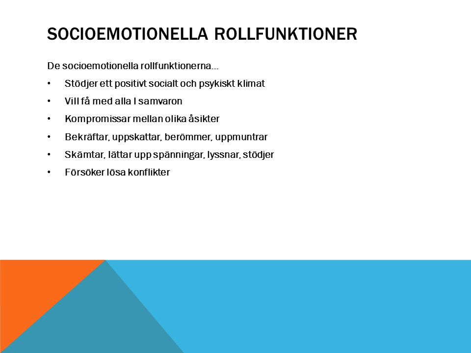 Socioemotionella rollfunktioner