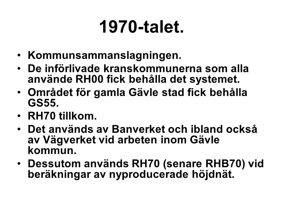 1970-talet. Kommunsammanslagningen.