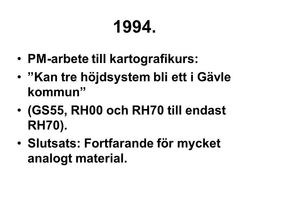 1994. PM-arbete till kartografikurs: