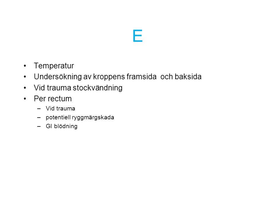 E Temperatur Undersökning av kroppens framsida och baksida